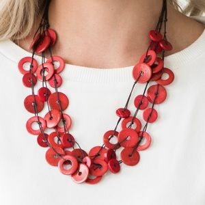 Beautiful 3 layer of Red Necklace